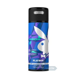 Xịt khử mùi toàn thân Playboy Generation nam mới