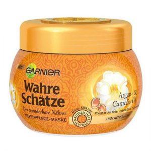 Kem ủ tóc Garnier Wahre Schätze Argan- & Camelia-Ol cho tóc khô & hư tổn 300ml