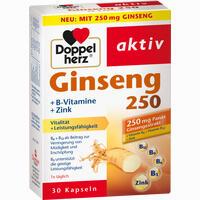 Thuốc bổ nhân sâm Doppelherz Ginseng 250mg + B-Vitamine + Zink, 30 viên