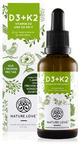 Vitamin D3 + K2 Nature Love 20ml